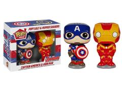 Pop! Home: Salt N' Pepper Shakers - Captain America & Iron Man