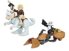 Star Wars Galactic Heroes Deluxe Figure - Set of 2 (Han Solo & Scout Trooper)