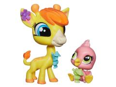 Littlest Pet Shop Pet Pawsabilities Series 03 - Girraffe & Flamingo