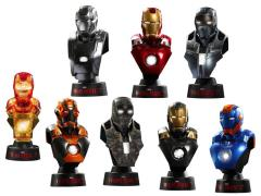 Iron Man 3 HTB21-27 Series II 1/6th Scale Collectible Bust Deluxe Set (Case)