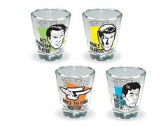 Star Trek Quotes Shot Glass Four Pack