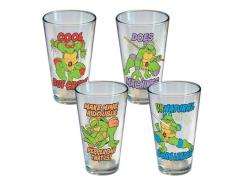 TMNT Phrases Pint Glass Four Pack