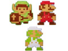 World of Nintendo 8 Bit Plush - Set of 3