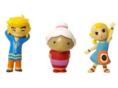 Mario Brothers U Micro Figure Three Pack Wave 04 - Grandma, Aryll, Link