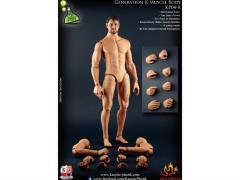 1/6 Scale Generation K Male Muscular Body - Caucasian With Head Sculpt A