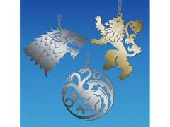 Game of Thrones Metal House Ornament - Set of 3