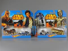 Star Wars Hot Wheels 1:64 Scale Character Car Two Pack Series 01 - Set of 2