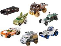 Star Wars Hot Wheels 1:64 Scale Character Car Series 04 - Set of 7