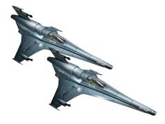 BSG Viper MK VII 1/72 Scale Model Kit Two Pack