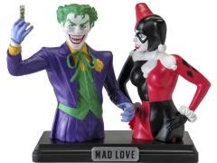 DC Comics Harley Quinn & Joker Resin Bust Bank SDCC 2014 Exclusive