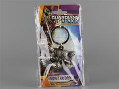 Guardians of The Galaxy Pewter Key Ring - Rocket Raccoon Head