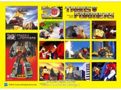 Transformers 30th Anniversary Classic Sticker Set - Grimlock