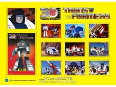 Transformers 30th Anniversary Classic Sticker Set - Jazz