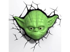 Star Wars 3D LED Wall Decal Limited Edition - Yoda (LE 1000)