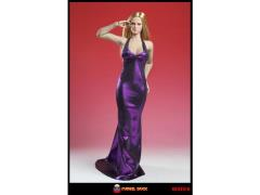 1/6 Scale Halter-Style Sleeveless Mermaid Gown - Purple