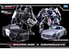 Transformers APS-03 Decepticon Barricade & Soundwave Two Pack With Mini Frenzy