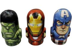 Marvel Heroes Head Shaped Banks - Set of 3