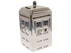 Doctor Who 50th Anniversary Silver Ceramic Tardis Money Bank