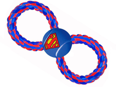 DC Comics Superman Rope & Tennis Ball Dog Toy