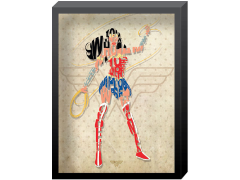 DC Comics Wonder Woman Printed Glass Art