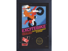 Excitebike Cover Framed Art Print