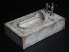 Squat Toilet 1/6 Scale Accessory (Distressed)
