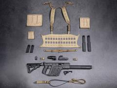 Elite Firearms Series 3 1/6 Scale Vector Submachine Gun Set (Black & Coyote)