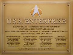 Star Trek Dedication Plaque #4 - USS Enterprise D