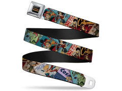 DC Comics Bombshells Comic Covers SeatBelt Buckle Belt