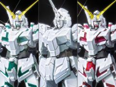 Gundam MG 1/100 MS Unicorn Gundam Titanium Finish (Red & Green Frame) Model Kit
