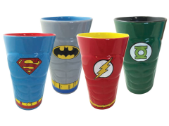 DC Heroes Molded Pint Glass Four Pack