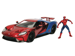 Marvel Metals Die Cast Spider-Man & 2017 Ford GT