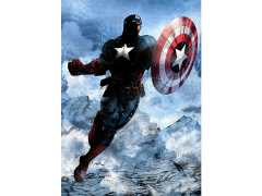 Marvel Dark Edition Captain America Displate Metal Print