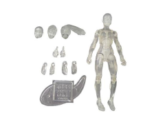 Vitruvian H.A.C.K.S. Female Figure Blank (Crystal Clear)