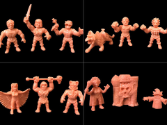 "M.O.T.U.S.C.L.E. 1.75"" Three Pack Wave 02 - Set of 4"
