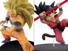 Dragon Ball Son Goku FES!! Stage 4 Super Saiyan 3 Goku (Repaint) & Young Goku Set