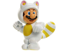 "World of Nintendo 2.50"" Limited Articulation Figure - White Tanooki Mario"