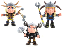 How To Train Your Dragon Action Vinyls: Series 02 Set of 3 - Humans