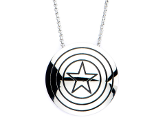 Marvel Captain America Shield Pendant Necklace