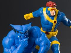 X-Men '92 ArtFX+ Cyclops & Beast Statue Two Pack