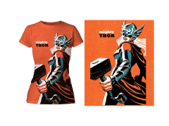 Marvel Mighty Thor T-Shirt (Womens) (Michael Cho)