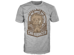 Pop! Tees: Star Wars: The Last Jedi - Chewie Millennium Falcon