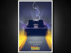 Back To The Future Art Print - Great Scott