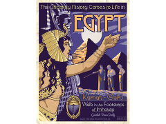 The Mummy Egypt Vintage Travel Lithograph