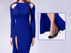 Bare-Shouldered Evening Dress (Blue) 1/6 Scale Set