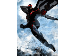 Marvel Dark Edition Falcon Displate Metal Print