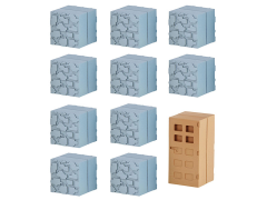 Minecraft Mine-Keshi Collection - Cobblestone & Oak Door Set