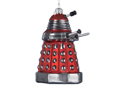 Doctor Who Red Dalek Glass Ornament