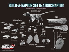Beasts of the Mesozoic: Raptor Series Build-a-Raptor Set - Atrociraptor