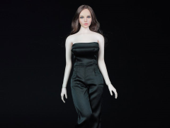 One Piece Culotte Jumpsuit (Black) 1/6 Scale Accessory Set
